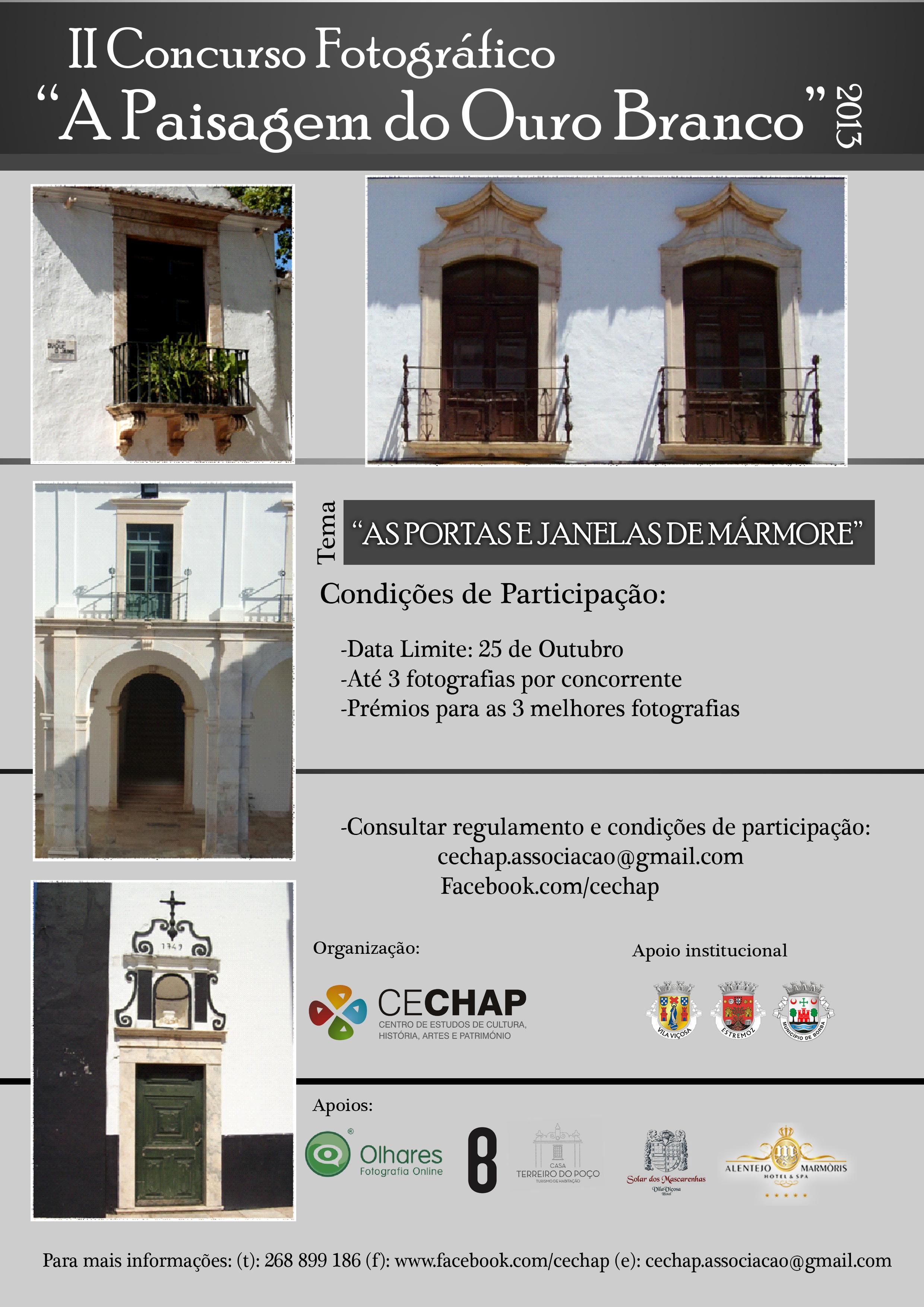 Concurso fotográfico Uma Janela para o mármore uma porta p o Património