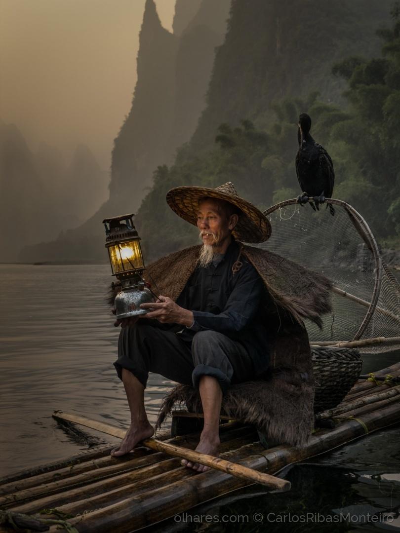 Pescador tradicional chinês © Carlos Ribas Monteiro