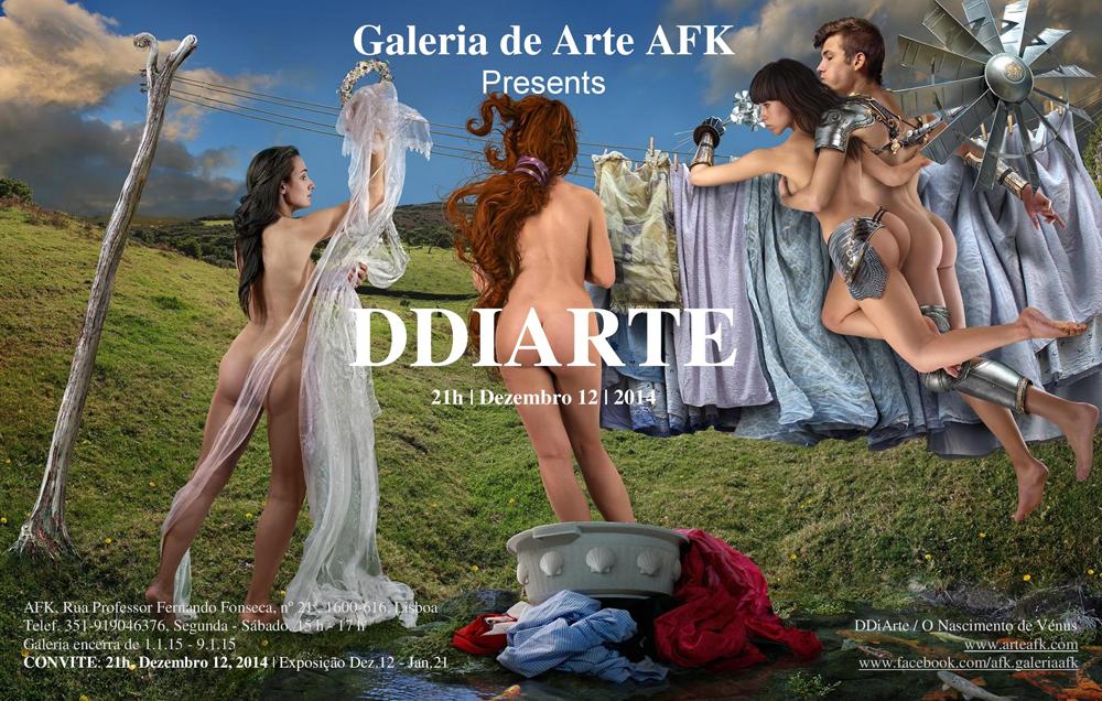 Galeria de Arte AFK. Exposição DDiArte. 12 Dezembro 2014, às 21h.