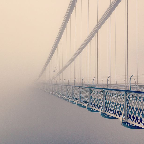 Helen Whelton, UK, 'Bridge disappearing into fog'