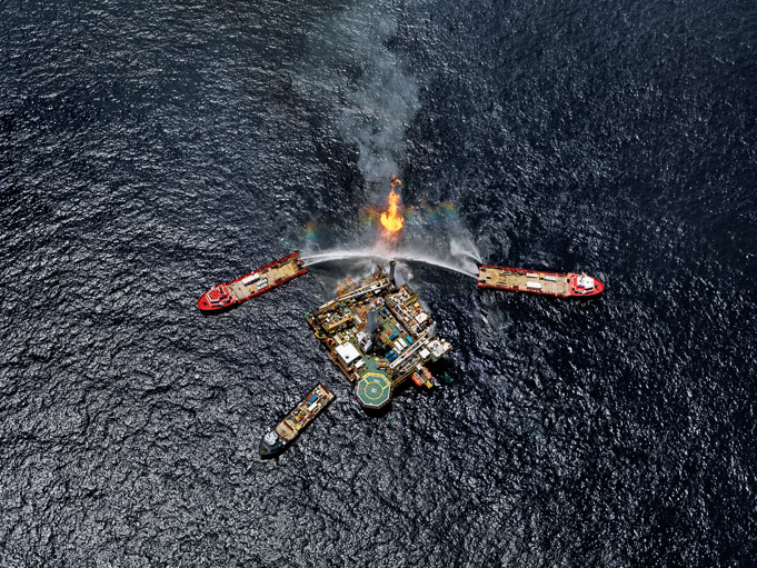 Oil Spill #5 - Q4000 Drilling Platform, Gulf of Mexico, June 24, 2010