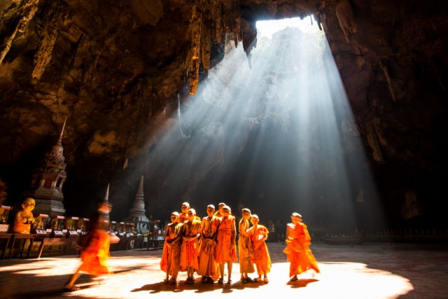 Khao Luang cave in North Phetchaburi in Thailand, photo by Carlo Murenu.