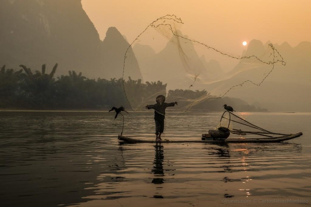 Pescador do Rio Li, <a href=