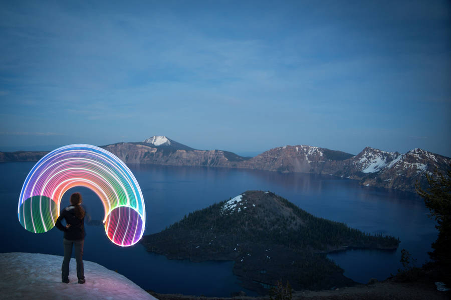 Hula Hoop Light Painting
