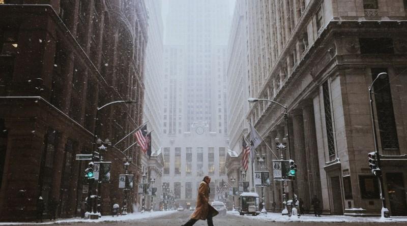 """""""Dias de Tempestade"""", foi a imagem vencedora da categoria """"Mobile"""", que retrata uma rua de Chicago no inverno passado"""