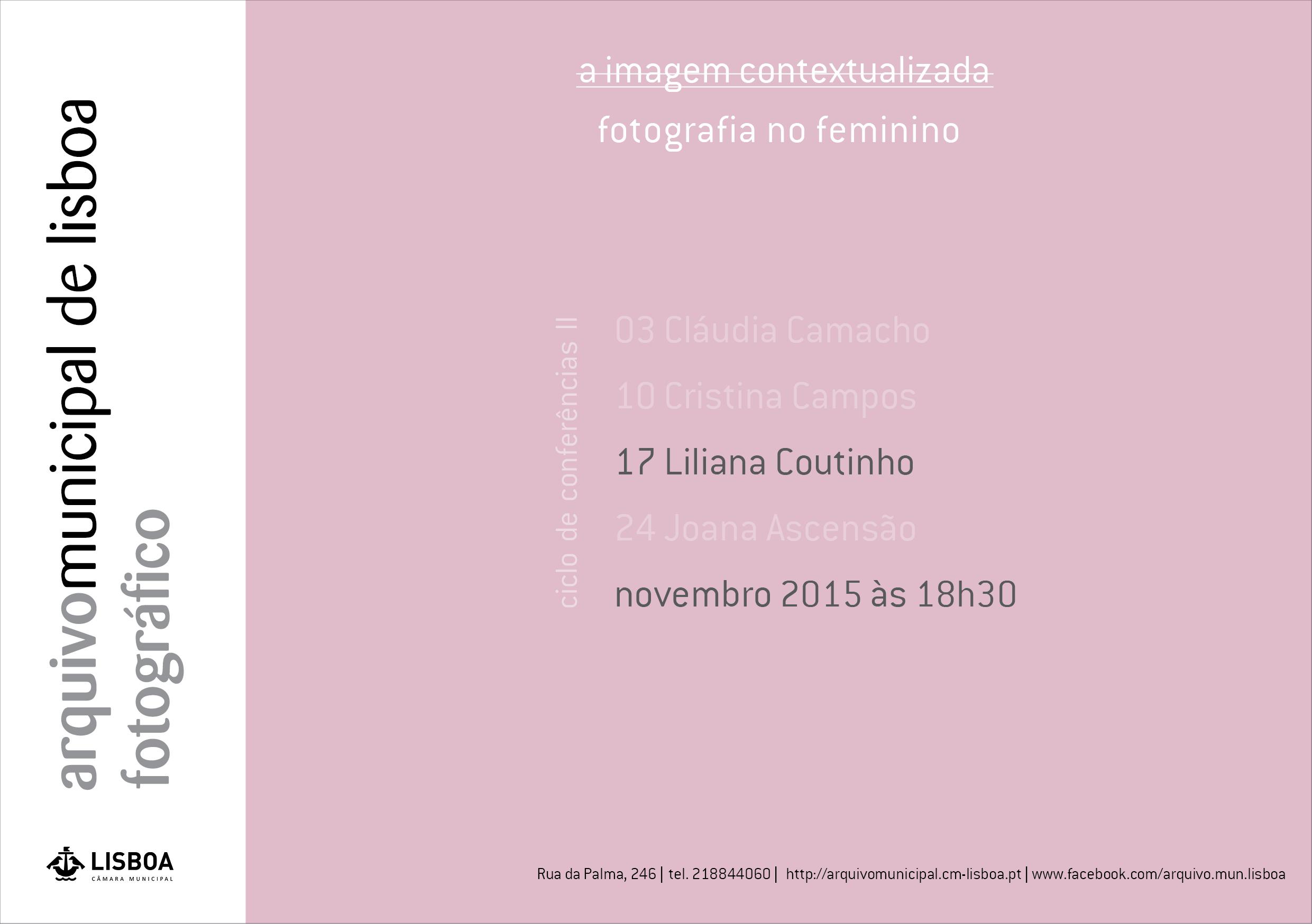 Ciclo de conferências II - Fotografia no Feminino