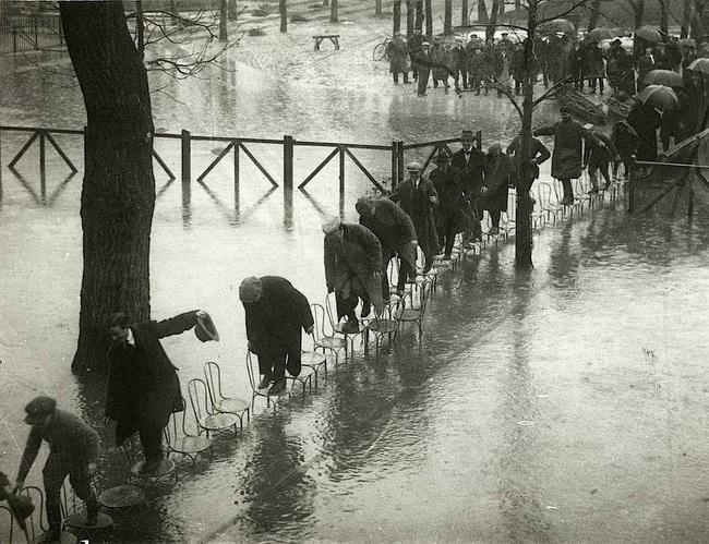 Cheias em Paris, 1924.