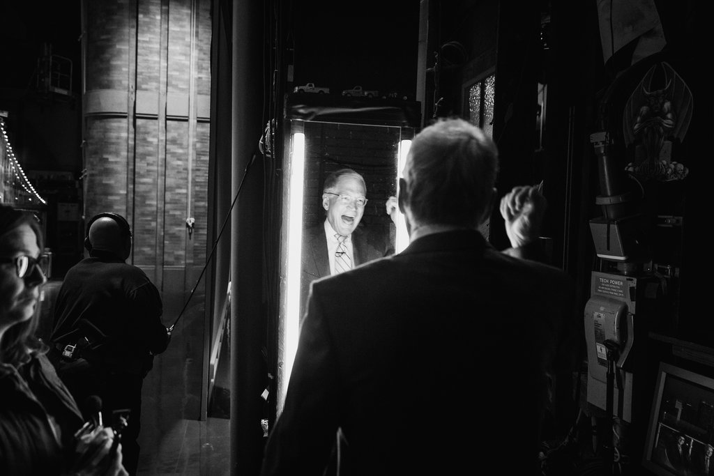 "MANHATTAN 4/21/2015 David Letterman before a taping of the ""Late Show."" His last broadcast aired a month later, capping a 33-year run in late-night television. Damon Winter/The New York Times"