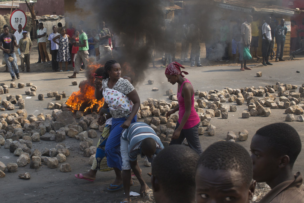 BUJUMBURA, BURUNDI 7/21/2015 Pierre Nkurunziza's bid for a third term as president brought Burundi to the brink of civil war. Here, protesters used cobblestones to create roadblocks. Tyler Hicks/The New York Times