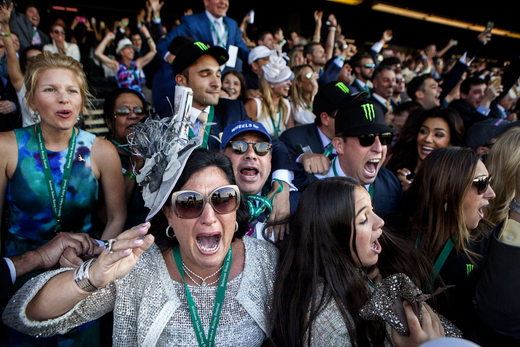BELMONT, N.Y. 6/6/2015 American Pharoah's owners, Ahmed and Joanne Zayat, center, after the racehorse won the Triple Crown. Sam Hodgson for The New York Times Share Tweet