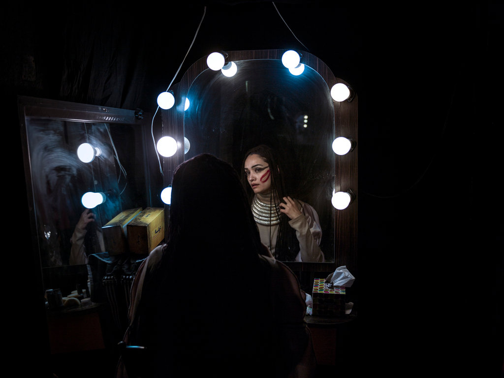 TEHRAN 3/29/2015 Mitra Hajjar, an actress, is one of many Iranians feeling the effects of sanctions by the Obama administration to pressure Tehran to curb its nuclear program. Newsha Tavakolian for The New York Times