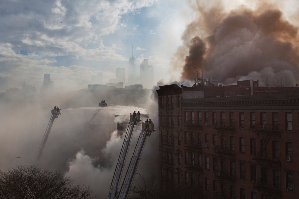 MANHATTAN 3/26/2015 An explosion and fire leveled three buildings in the East Village, killing two men. The suspected cause was the unauthorized tapping of a gas line. Victor J. Blue for The New York Times