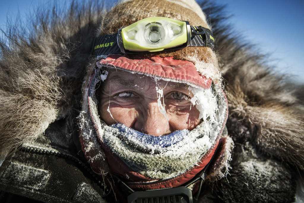 RUBY, ALASKA 3/13/2015 During the 1,000-mile Iditarod Trail Sled Dog Race, Marcelle Fressineau arrived at a checkpoint after a run of more than 100 miles.  Katie Orlinsky for The New York Times
