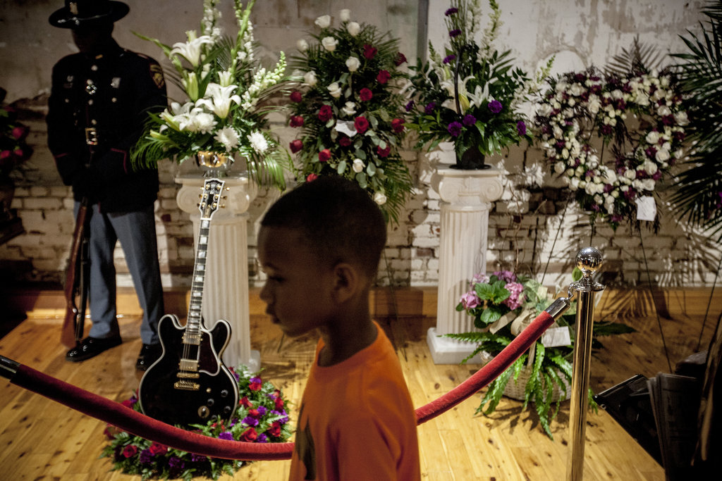 INDIANOLA, MISS. 5/29/2015 A young fan paid respects to the blues master B.B. King, who died on May 14 at age 89. Andrea Morales for The New York Times Share Tweet