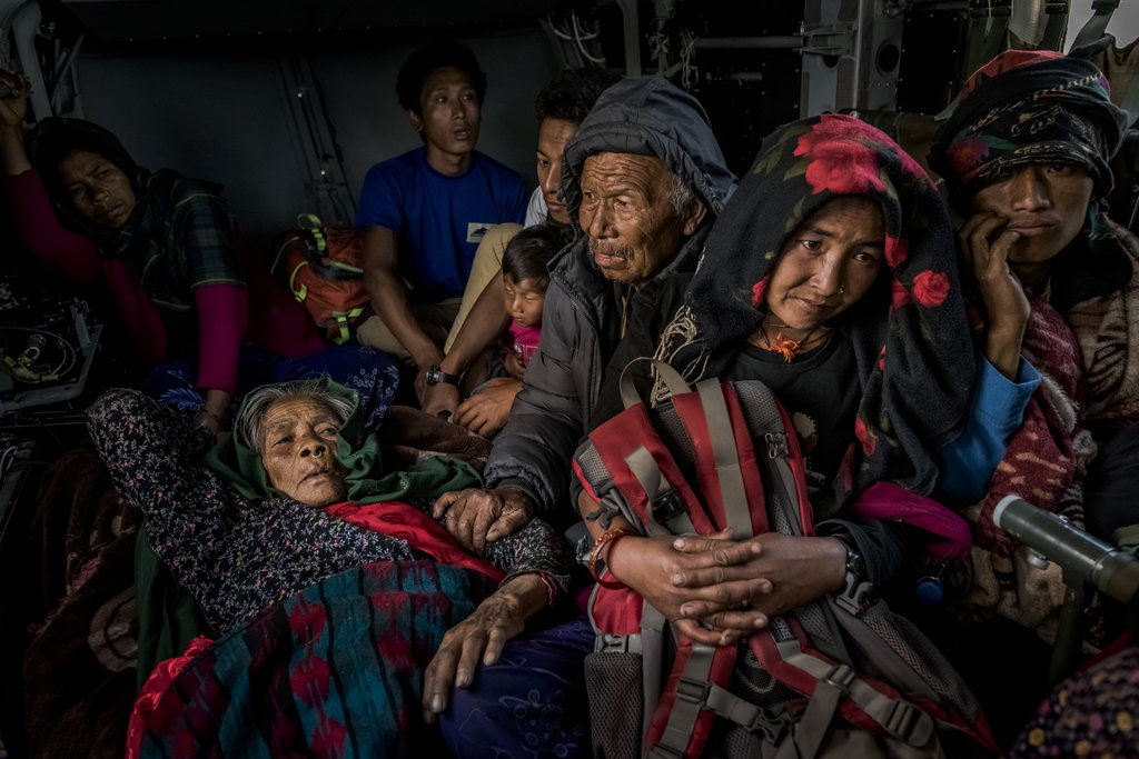 GORKHA, NEPAL 5/3/2015 Nepali villagers were evacuated during rescue missions after a 7.8 magnitude earthquake devastated the country. Daniel Berehulak for The New York Times