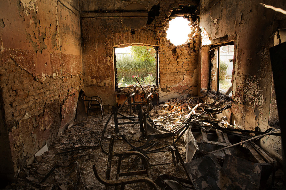 KUNDUZ, AFGHANISTAN 10/14/2015 The aftermath of an American airstrike against a Doctors Without Borders hospital that killed more than 40 staff members, patients and relatives of patients. Victor J. Blue for The New York Times