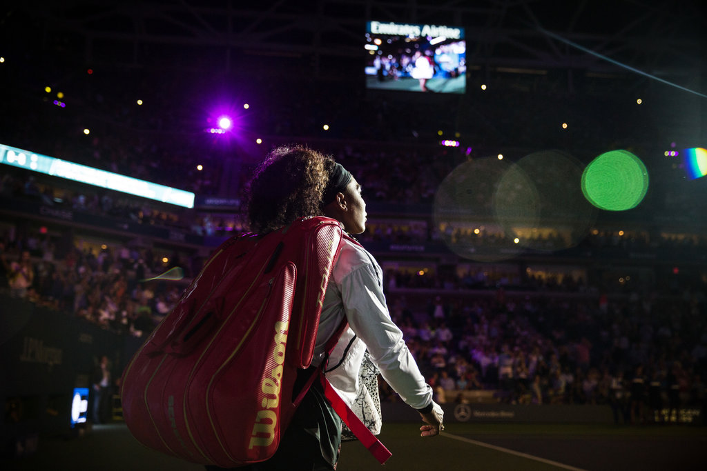 QUEENS, N.Y. 9/8/2015 Serena Williams entered the court at the United States Open to play her sister Venus. She lost her Grand Slam bid three days later in the semifinals. Todd Heisler/The New York Times