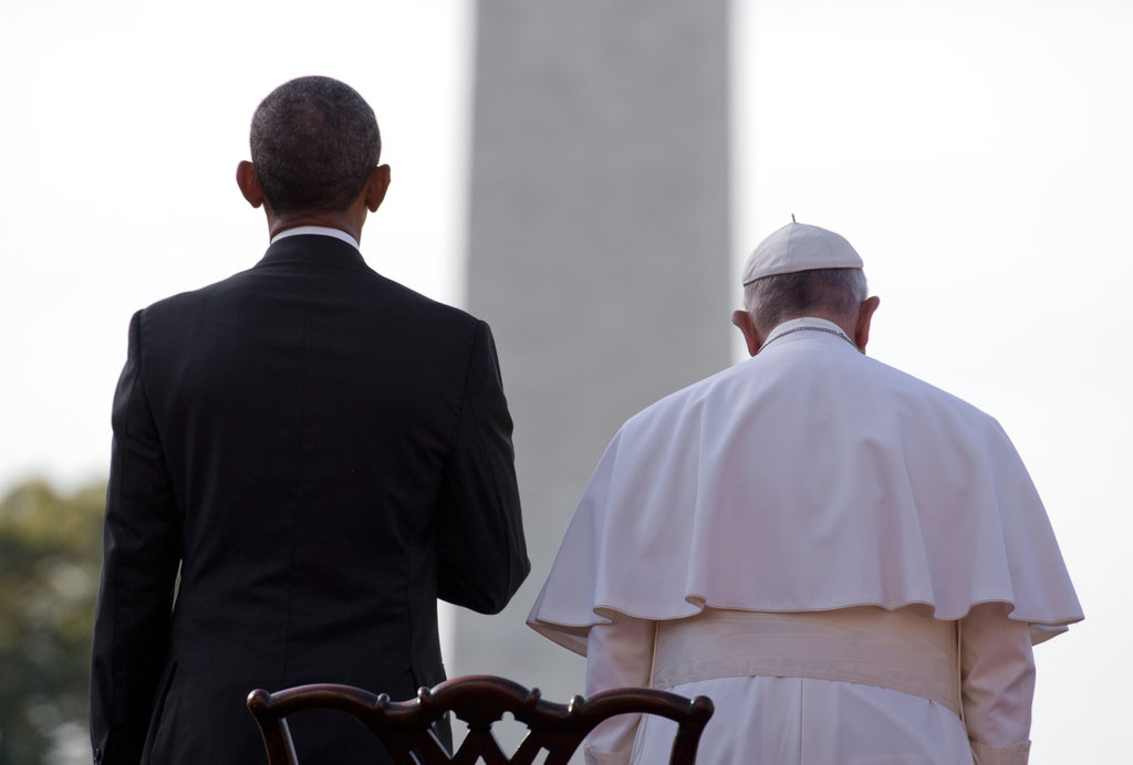 WASHINGTON 9/23/2015 President Obama welcomed Pope Francis to the White House during the pope's first visit to the United States. Stephen Crowley/The New York Times Share Tweet