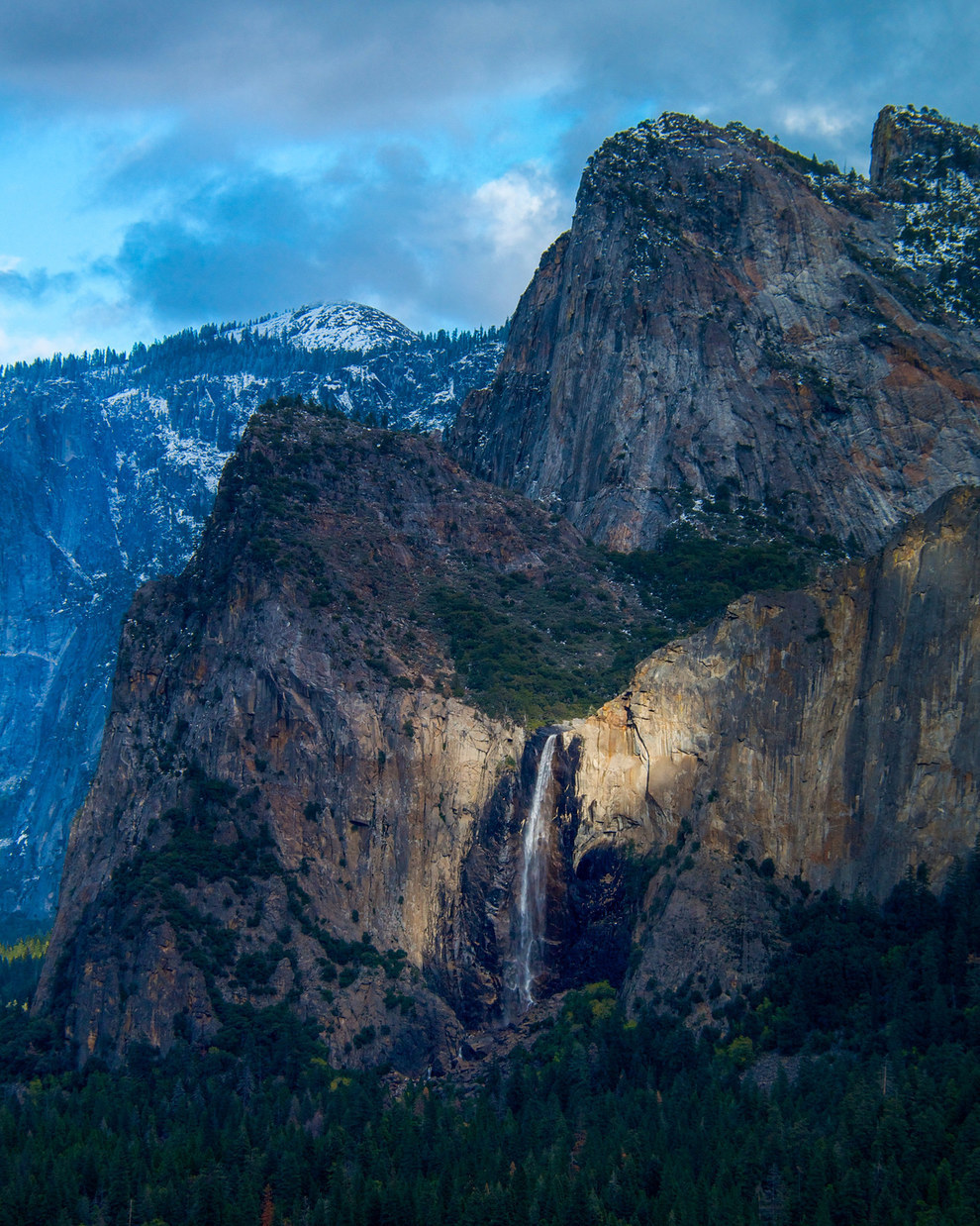 """Spotlight on Bridalveil Falls"", by Douglas Croft, from the USA"