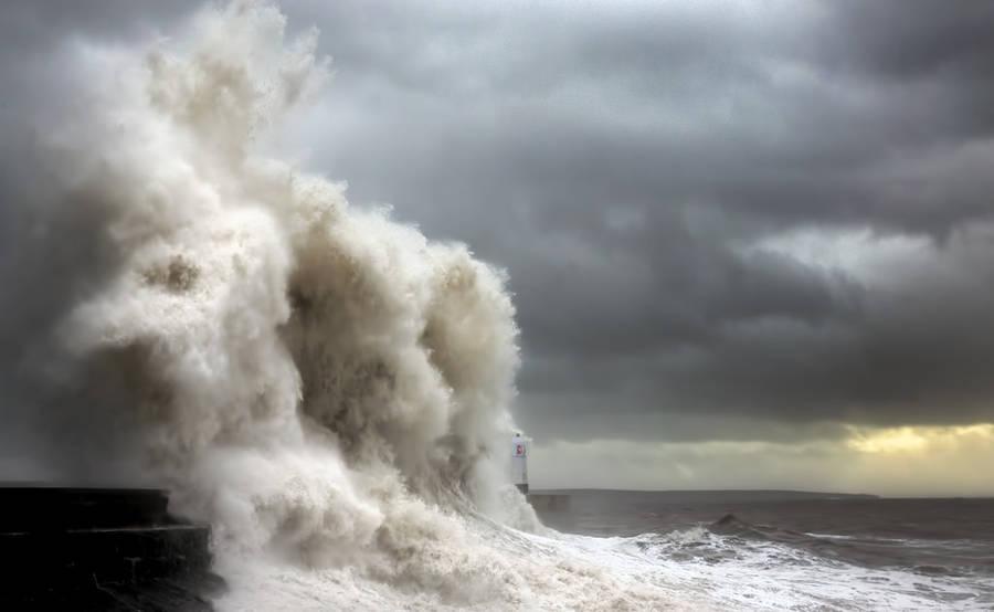 Ondas tempestade Fotografia