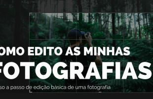 Como edito as minhas fotografias?