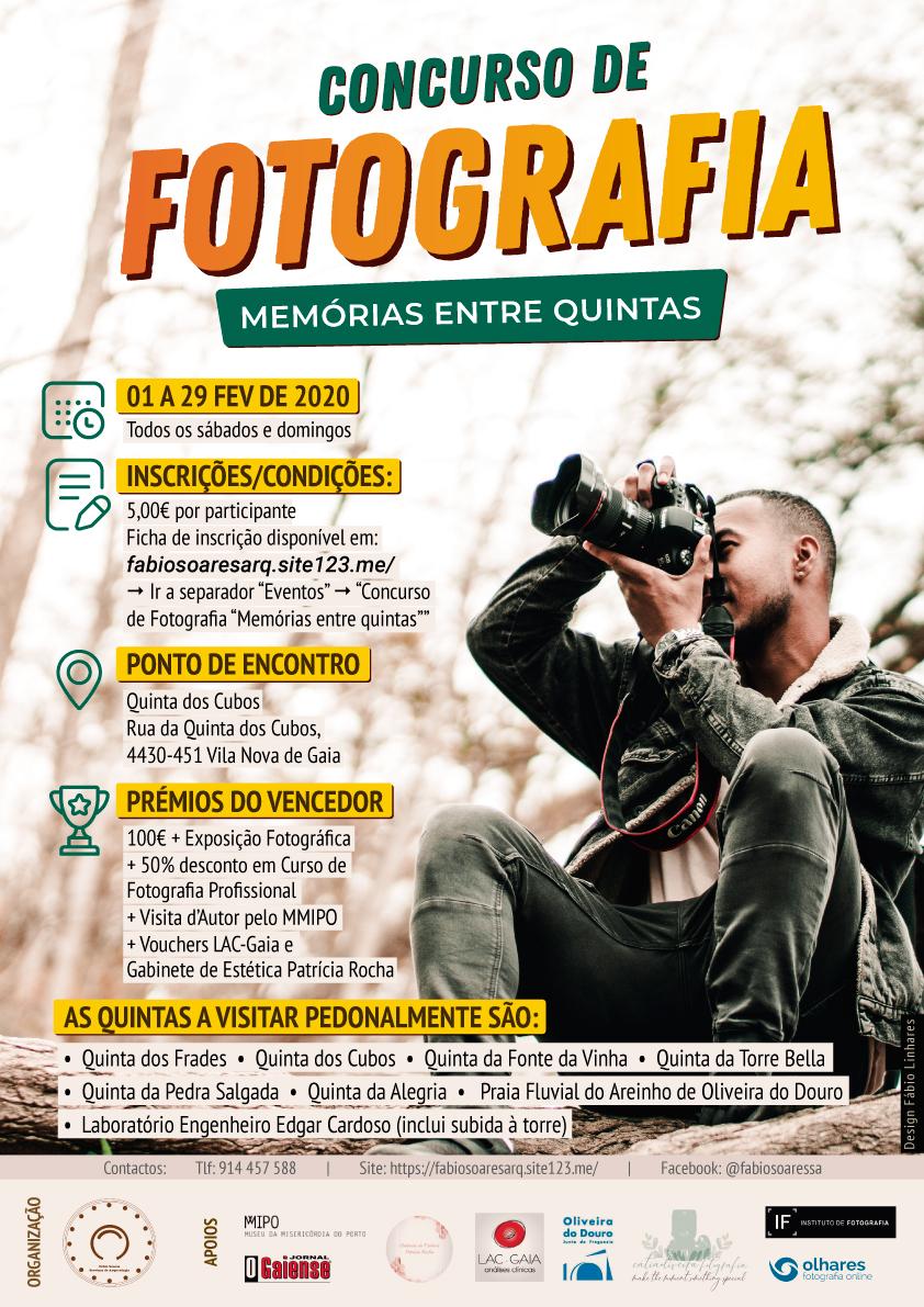 Cartaz oficial do Concurso de Fotografia Memórias entre quintas