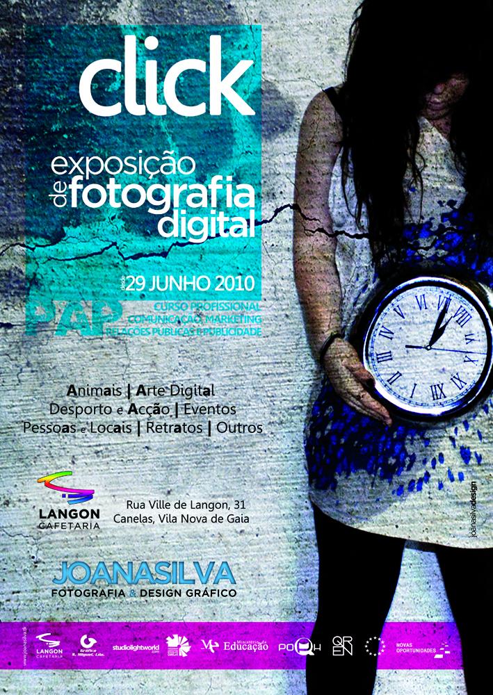 Cartaz  exposição fotografia digital